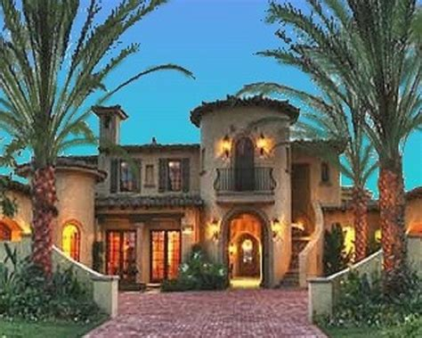 Southwest Style Homes Mediterranean Style House Plan 4 Beds 4 5 Baths 6755 Sq