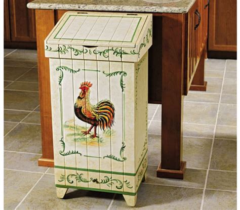 Kitchen Cabinets Baskets by Picture Of Hand Painted Rooster Trash Bin Images Nation