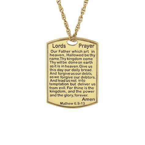 lord s prayer necklace 18x25mm personalized jewelry
