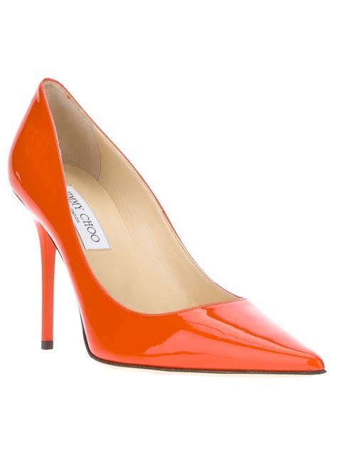 jimmy choo shoes jimmy choo abel court shoe in orange lyst