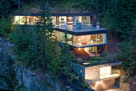 House Built Into Mountain a snowboarder s house built into a canadian mountain huh