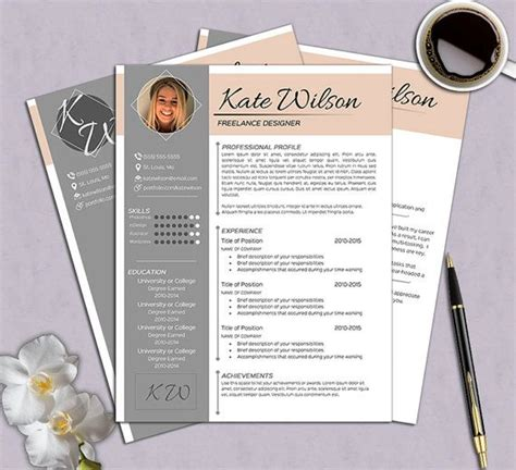 creative cv sle download creative 2 page resume template free by
