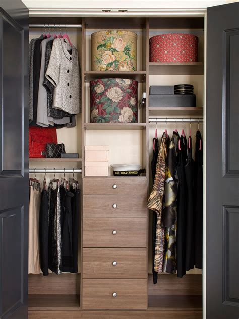 ideas for closet organizers closet organization ideas hgtv