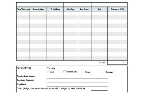 medical bill template free download