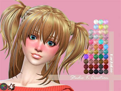 sims 4 anime hair cc animate hair 73 hina at studio k creation 187 sims 4 updates