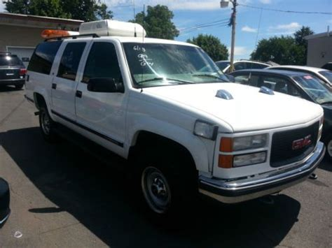 automobile air conditioning service 1995 chevrolet suburban 2500 purchase used 99 gmc suburban 2500 v8 4wd work suv service truck escort truck flagger vehicle in