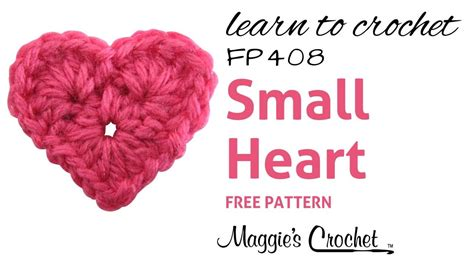 crochet heart pattern free youtube crochet easy small heart how to right handed youtube