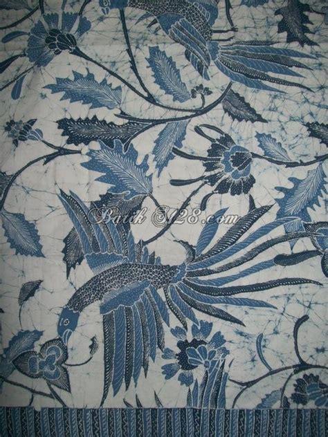 Kemeja Batik Tulis Indigo 075 batik tulis warna alam biru indigo motif burung