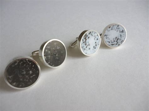 Handmade Silver Cufflinks - handmade silver resin and tea cufflinks by lowe