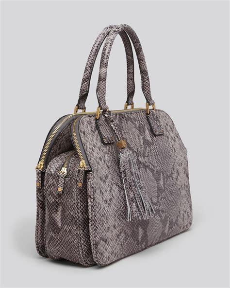 Burch Garden Snake Weekender Bag by Burch Satchel Thea Snake Embossed Zip