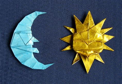 Sun Origami - moon and sun sol y by figuer on deviantart