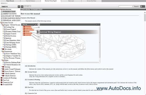 online car repair manuals free 2011 lexus gs instrument cluster lexus rx450h gyl25 series repair manual 2015