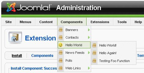 tutorial joomla component development tutorial guide component helloworld 01