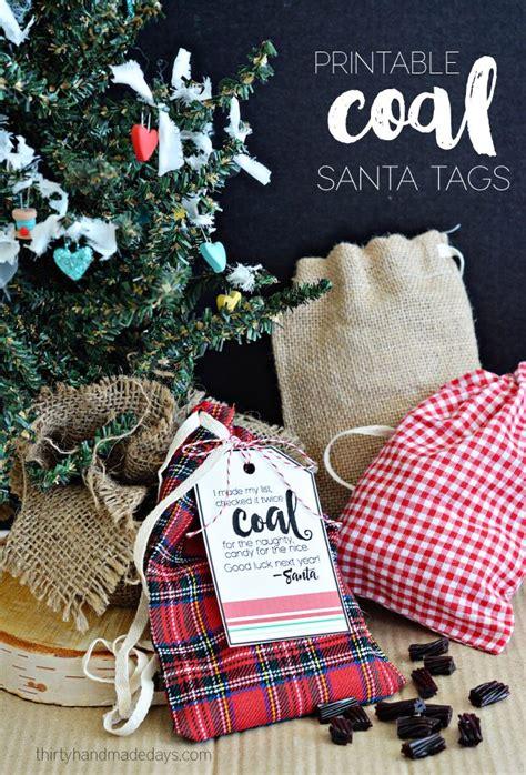 30 Handmade Days - printable coal santa tags thirty handmade days