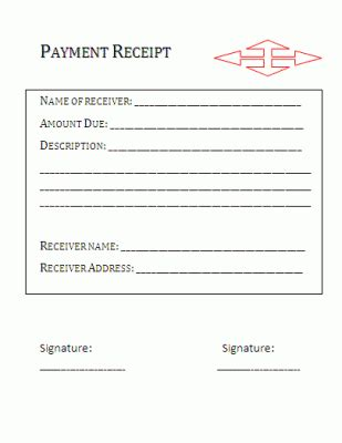 business form templates grooming receipts payment receipt format free business templates