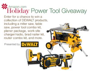 Power Tool Giveaway - amazon com holiday power tool giveaway win a dewalt tool prize pack