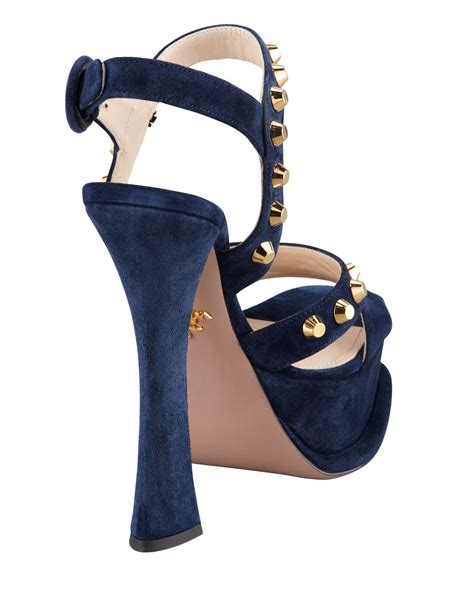 Heels Pita Suede Ankle R078 prada womens navy studded suede ankle wrap sandal womof