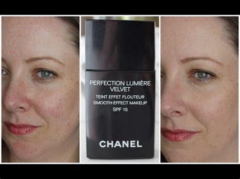 Chanel Perfection Lumiere Velvet Foundation chanel perfection lumiere velvet foundation impressions demo lovely girlie bits