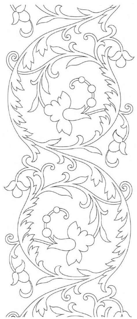 western scroll patterns free hand embroidery pattern