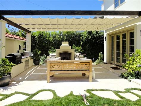 cable awnings and slide on wire canopies slide wire cable canopy mediterranean patio los angeles by superior awning inc