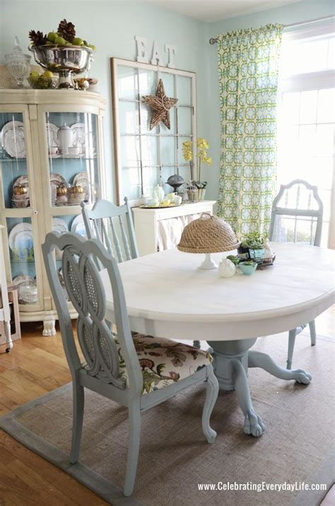 dining room table and chairs makeover with sloan chalk paint