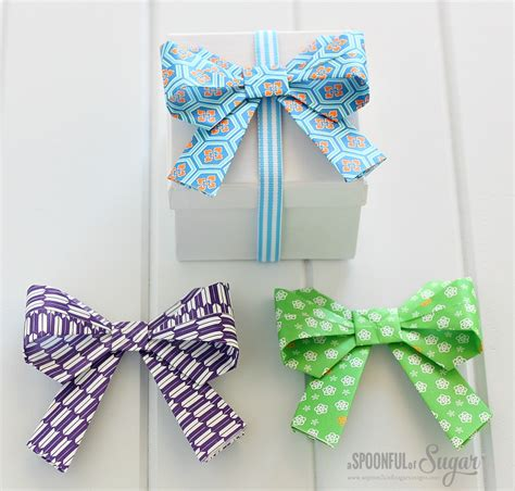 How To Make Origami Bows - origami bow a spoonful of sugar