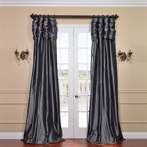 faux silk curtains beautiful faux silk taffeta curtains home decorations