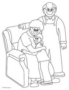 coloring pages grandparents reading coloring pages