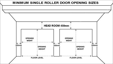 Average Height Of A Garage Door by Standard Garage Door Sizes Single Roller Doors