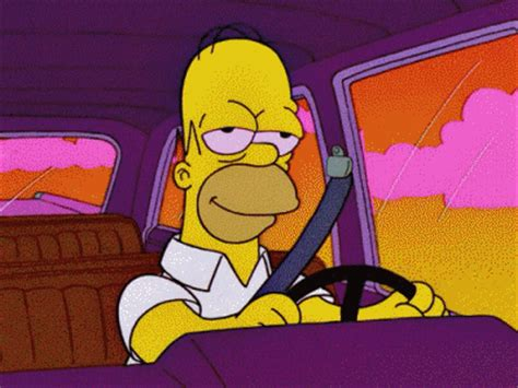 Gets Papa Simpsons Approval by Happy Monday Drive Safe To Work Today Blurppy