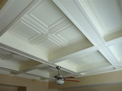 ceiling tile inserts coffered ceiling with antique