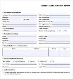 credit template 8 credit application templates excel excel templates