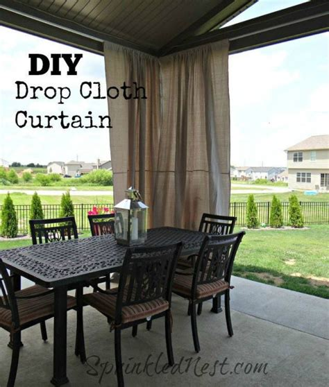 diy outdoor curtains drop cloth you still have time to get the backyard oasis of your