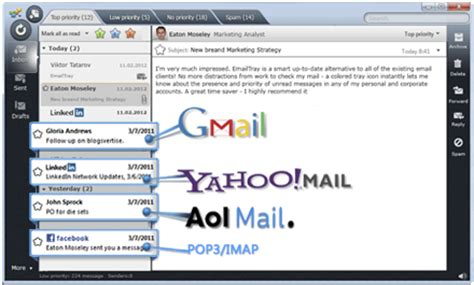 emailtray features: what's inside