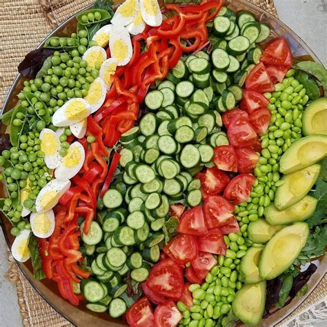 Garden Salad Fresh Garden Salad With Garlic Dressing Clean