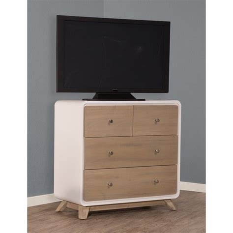 Taupe Drawer by Ne East End 4 Drawer Chest In White And Taupe 7100 784