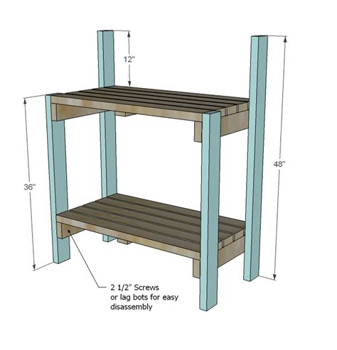 potters bench plans ana white simple potting bench diy projects