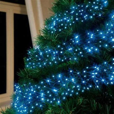 Blue Christmas Tree Decorating Ideas Adding Cool Elegance Lights For Small Trees
