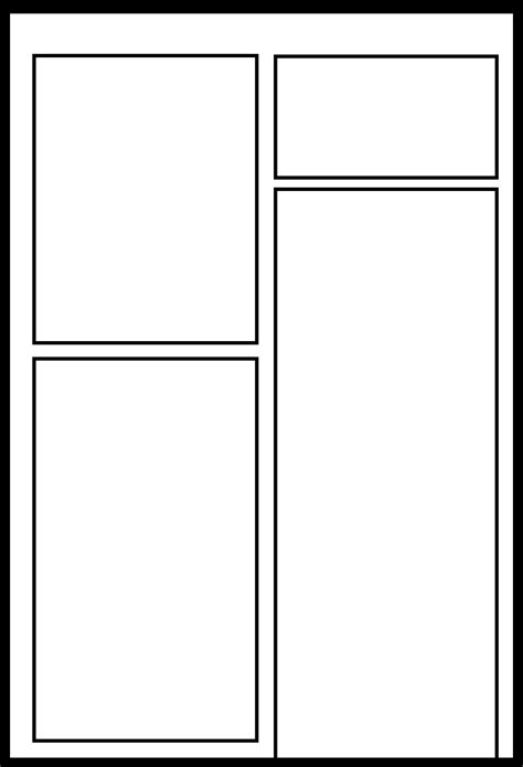 6 panel comic template yxb 012 by comic templates on deviantart
