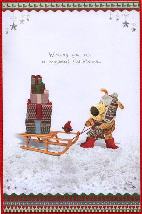 boofle daughter son  law christmas card cards