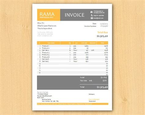 editable modern professional excel business invoice by