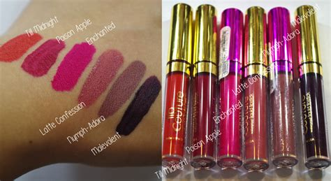 la splash lip couture swatches and review clutz