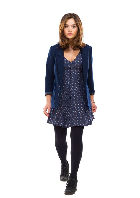 Blus Clara 2 coleman blue dress blue blazer black tights