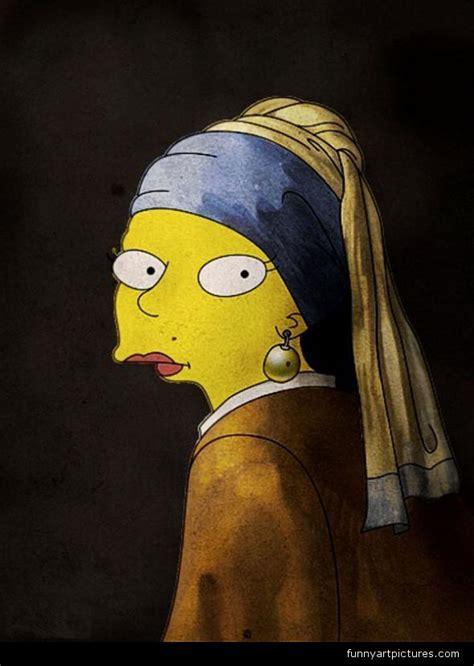 arts entertainment vermeer simpsons girl  pearl