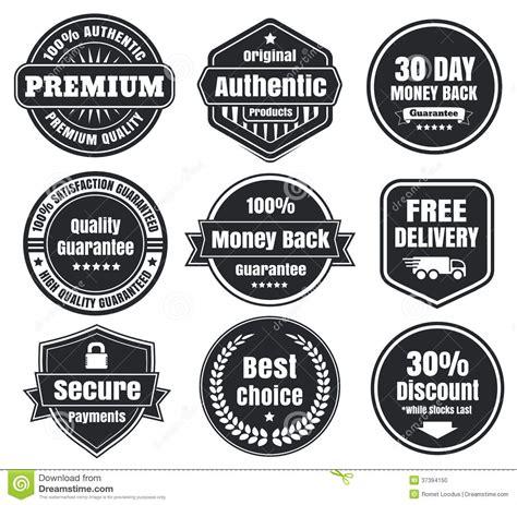 Retro 4 Money Premium High Quality light and vintage ecommerce badges stock vector