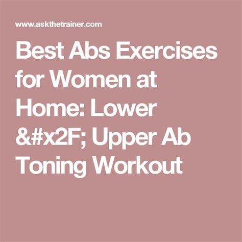 17 best ideas about ab workouts on