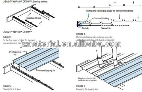 Klip Fixing oem factory g550 galvalume clip lock roof sheet 750mm