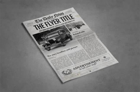 Photoshop Newspaper Template Graphic By Ted Creative Fabrica Photoshop Newspaper Template
