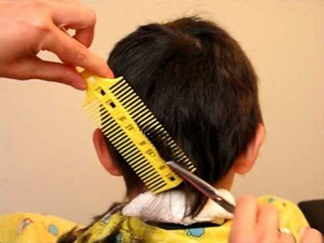 cutting boy hair with scissors how to cut boy s kids hair haircut tutorial combpal
