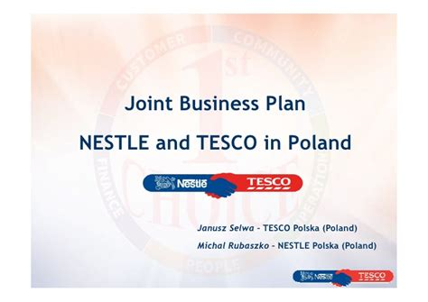 Joint Mba And Planning Degrees by 07 Joint Business Planning With Tesco And Nestle